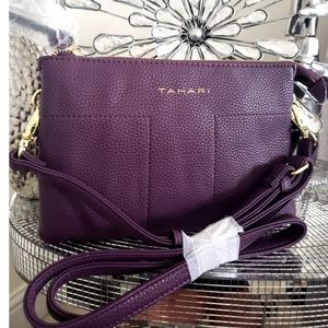 New with Tags Tahari Purple Plum Crossbody Bag